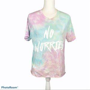 LA Hearts tie dye No Worries T-shirt